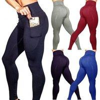 Wholesale New Design Women One Pocket High Waist Hip Fitness Yoga Leggings Tight Bottoming pants