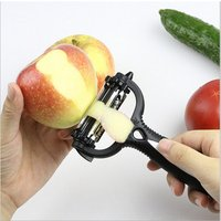 'Multifunctional Kitchen Accessories 360 Degree Rotary Potato Peeler Vegetable Cutter Fruit Melon Planer Grater With 3 Blades