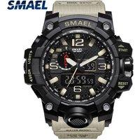 Mens sports wrist watch waterproof digital watch smael brand watches SL1545
