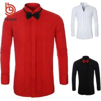 RTS Polyester Cotton French Cuff Men Formal Dress Shirts Tuxedo Shirts for Party