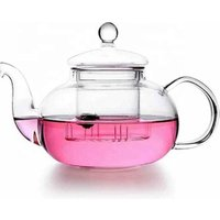 New style fashionable handmade borosilicate high quality glass teapot