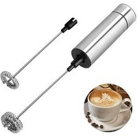 Electric handheld stainless steel automatic cream milk frother triple spring mixer stirrer coffee beater