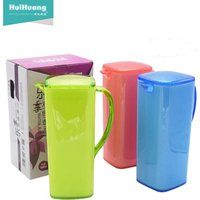 high quality BPA free eco friendly 1.5L double color PS square plastic water jug set plastic pitcher ice cooler water jug