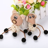 natural New Arrival Pet Products Interactive cat toy with rattan ball