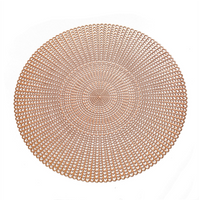 HS Factory Direct Wholesale Hollow Cut Luxury Washable PVC Fish Bone Party Round placemats for dining table