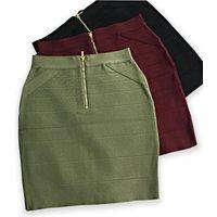 Ladies sexy bandage mini skirt