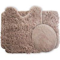 100% polyester microfibre bath mats 3 piece rugs set
