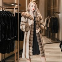 XuXin 2019 oem Womens fashion clothing long plus size denmark coffee suede fur winter coat with hat fur collar