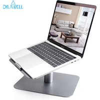 Top Grade 360 Degree Rotating Desk PC Mount Aluminum Metal Laptop Stand Holder for MacBook Air Pro