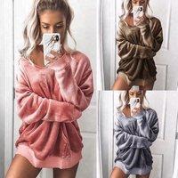 B21621A Womens blouse fashion velvet long sleeved sweater Hoodie
