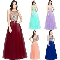 Hot Sale Long Ball Gown Chiffon Evening Dress