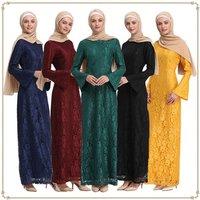Abaya Dubai Islam Qatar Arabic Lace Muslim Hijab Dress Jilbab Kaftan Abayas For Women Caftan Turkish Islamic Clothing Dresses