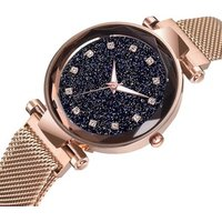 Luxury Rhinestone Women Magnet Buckle Watches Minimalism Starry Sky Fashion Casual Female Rose Gold Wristwatch Relogio Feminino