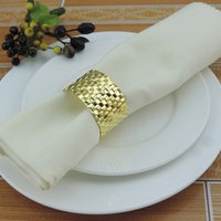 Yiwu Aimee factory directly cheap wholesale gold table dinner napkin rings for wedding decoration(AM-NR02)