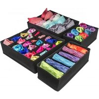 Foldable Cloth Storage Box Closet Dresser Drawer Nonwoven Organizer Cube Basket Bins Containers for Underwear, Bras, Socks
