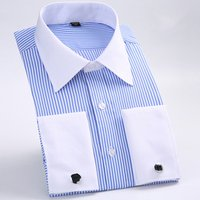 Hot Sale 100% Cotton Different Stiff Collar Formal Men Dress Shirt