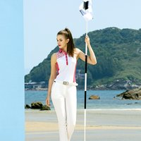 New Fashion Ladies Movement Sleeveless Slim Fit golf Polo shirt and Quick drying Golf Top  Vest For Women