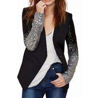 Fashion Women Blazers Long Sleeve Notched Slim Blazer For Women Plus Size 4XL Patchwork Suit Coats Y10545