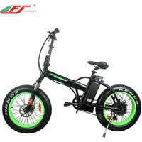 Low price 48v 500w folding electric bicycle with 20 inch fat tire