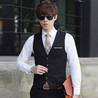 Mens Formal Business Casual Vest Slim Fit Coat Business vest with suit and self-cultivation online shopping apparel