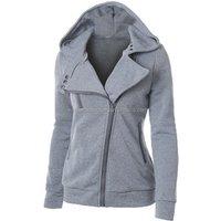 Womens Solid Plain Hoodie One Colour Zip Top Hooded Ladies Winter Coat Hoody Sweatershirt women apparel
