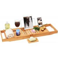 Clawfoot Tub Shelf Desk Board Handmade Bamboo Bath Caddy Tray