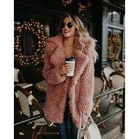 Fluffy long faux fur coat women streetwear coat female Fashion Streetwear