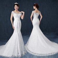 2016 Latest Design Slimming Fish Tail Wedding Dress Bridal Gown
