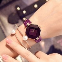 New Women Fashion Luxury Watch Brand Wristwatch Octagonal Rhombus Casual Bracelet Quartz Watches