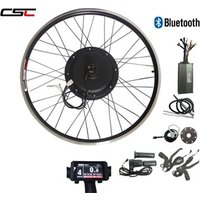 Electric Bike Conversion Kit Bluetooth 48V 1500W LC8 Display and Bluetooth eBike Kit for 20-29inch Front Rear Bicycle Wheel Motor