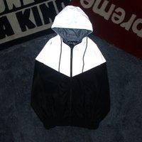 New Men And Women Couple Jackets Autumn Patchwork Hoodies Jacket Reflective Hip Hop Windbreaker Mens Coat Y1059