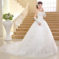 Thai style competitive price zipper Long Tail wedding dress in evening