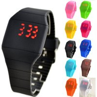 Cheap wrist LED touch screen watch silicone strap, wrist band watch, free wrist watches