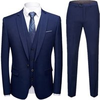 Turkey 3 Piece Men Slim Fit Plus Size Groom Wedding Suit