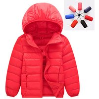 2019 Winter Hooded Warm Light Weight Down Kids Girls Boys White Duck Down Jacket 90%  Ultra Light Children Jacket