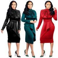 RTS M1070 new Slim Hip Sexy Midi Bodycon Dress Women Night Club Clothes Party Wear Office Lady Pencil Dresses Plus Size XX