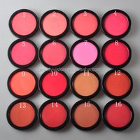 Guangzhou single color blush palette mineral blusher private label