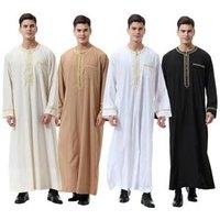 Muslim Islamic Clothing for men Arabia Islamic abaya Mens Kaftan Jubba islam Apparel men thobe