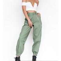 Streetwear Cargo Pants Women Casual Joggers Black High Waist Loose Female Trousers Korean Style harem pants