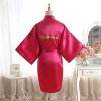 Wholesale Wedding Bridesmaid Silk Robe, Satin Cotton Wedding Bridesmaid Robes, Factory Lace Trim Matte Satin Robe