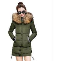 Coldker 2017 Winter Womens Jacket Long Down Jacket Padded Coat Ladies Slim Hooded Parka