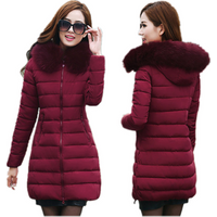 China Manufacturer Custom Oversize Hooded Ladies Jacket Winter Puffer Cotton Padding Down Jacket Women With Fur
