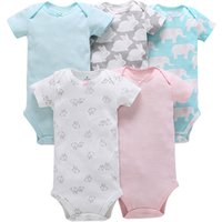 Summer baby boy girl romper cotton 5 pcs suit high quality newborn baby clothes