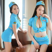 Fashion underwear sexy lingerie short sleeves chinese style sexy airline hostess uniform 2928