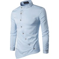 81A26 High Quality Wholesale Oblique Hem Mens Cotton Dress Shirts Business Shirts