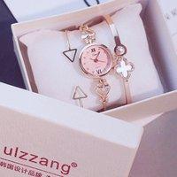 Womens Watches Luxury Dress Casual Fashion Waterproof  Watches Diamond Rhinestone Quartz Wrist watch set