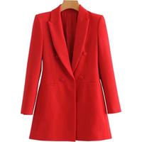 2019 Hot Single Button Draped Sleeves Women Long Blazer jacket suit in Multi-color