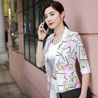 Elegent office leisure women suit  fasion slim fit  ladies casual business fancy Blazers Two Piece Suits jacket add white pants