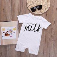 GH017 boys baby romper suit 100% cotton letter baby plain romper