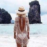 Womens Bathing Suit Cover Up for Beach Pool Swimwear Crochet Dress